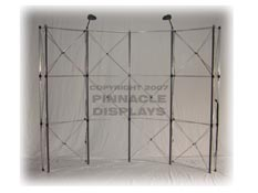 Eclipse 10ft floor pop-up trade show display frame
