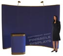 10ft floor velcro-fabric pop-up trade show displays