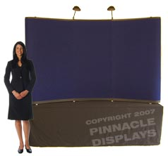 8ft table top popup trade show displays