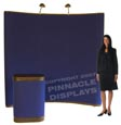 8ft floor pop-up velcro trade show displays