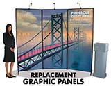 Signature 3-panel display replacement graphic panels