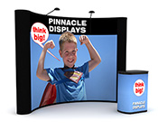 10 ft pop up trade show display with front graphics