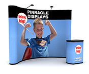 10ft pop-up trade show display with full graphics