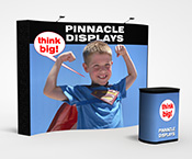 10 ft wave trade show display with front graphics