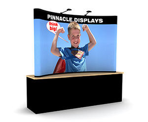8ft table top popup trade show displays with full graphics