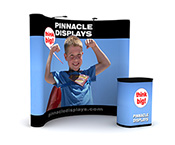 8ft pop-up trade show display with full graphics